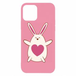 Чехол для iPhone 12/12 Pro Rabbit with a pink heart