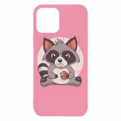 Чохол для iPhone 12 Raccoon with cookies