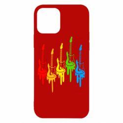 Чехол для iPhone 12/12 Pro Разноцветные гитары