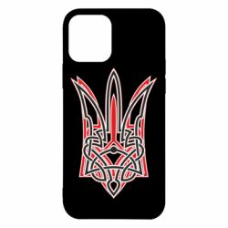 Чехол для iPhone 12/12 Pro Red and black coat of arms of Ukraine