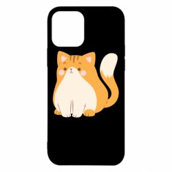 Чехол для iPhone 12/12 Pro Red cat with stripes