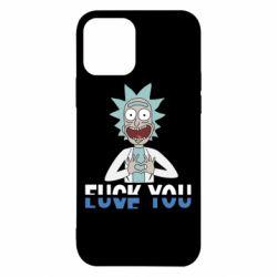Чехол для iPhone 12/12 Pro Rick fuck you