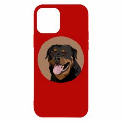 Чехол для iPhone 12/12 Pro Rottweiler vector