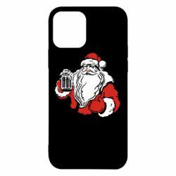 Чехол для iPhone 12/12 Pro Santa Claus with beer