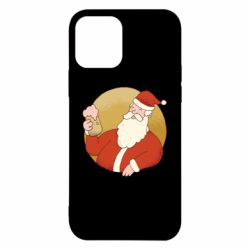Чехол для iPhone 12/12 Pro Santa with a beer glass