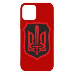 Чехол для iPhone 12/12 Pro Shield with the emblem of Ukraine and the sword