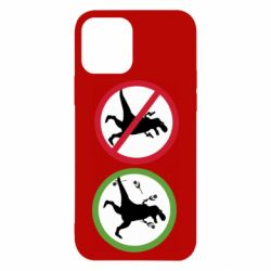 Чохол для iPhone 12/12 Pro Sign with a dinosaur with a gun and flowers
