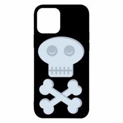 Чехол для iPhone 12/12 Pro Skull and bones minimalism