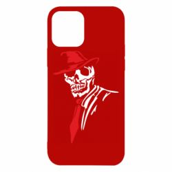 Чехол для iPhone 12/12 Pro Skull in a hat with a tie