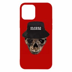 Чехол для iPhone 12/12 Pro Skull in hat and text