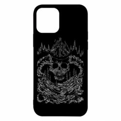 Чехол для iPhone 12/12 Pro Skull with horns in the forest