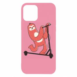 Чохол для iPhone 12 Sloth on a scooter