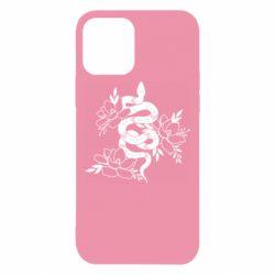 Чохол для iPhone 12 Snake with flowers