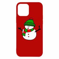 Чехол для iPhone 12/12 Pro Снеговик