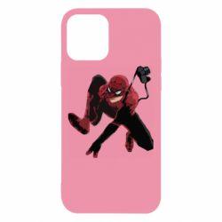 Чехол для iPhone 12/12 Pro Spiderman flat vector