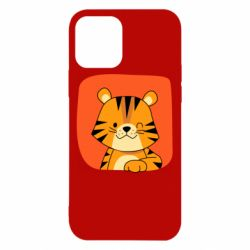 Чехол для iPhone 12/12 Pro Striped tiger with smile
