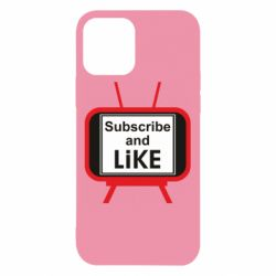 Чехол для iPhone 12/12 Pro Subscribe and like youtube