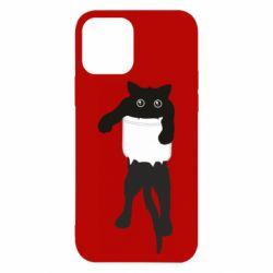 Чехол для iPhone 12/12 Pro The cat tore the pocket