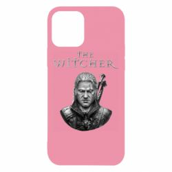 Чехол для iPhone 12/12 Pro The witcher art black and gray