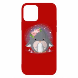 Чехол для iPhone 12/12 Pro Two cute penguins
