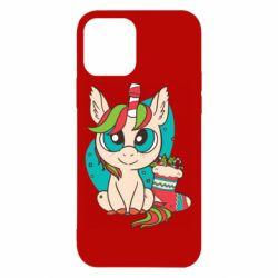 Чехол для iPhone 12/12 Pro Unicorn Christmas