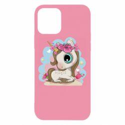 Чохол для iPhone 12 Unicorn with flowers