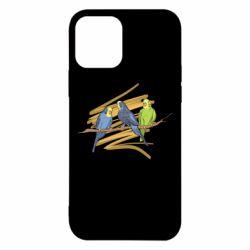 Чехол для iPhone 12/12 Pro Волнистые попугайчики