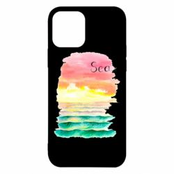 Чехол для iPhone 12/12 Pro Watercolor pattern with sea
