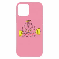 Чехол для iPhone 12/12 Pro Weightlifter caricature