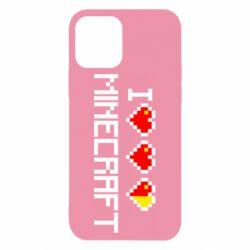 Чехол для iPhone 12/12 Pro Я люблю Minecraft