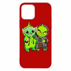 Чехол для iPhone 12/12 Pro Yoda and Grinch