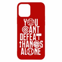 Чехол для iPhone 12/12 Pro You can't defeat thanos alone