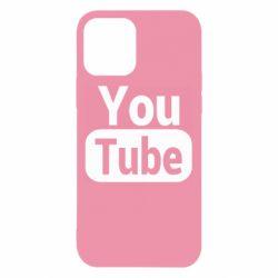 Чохол для iPhone 12/12 Pro Youtube vertical logo