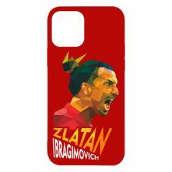 Чехол для iPhone 12/12 Pro Златан Ибрагимович, полигональный портрет