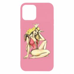 Чехол для iPhone 12/12 Pro Zodiac sign Leo in the image of a girl