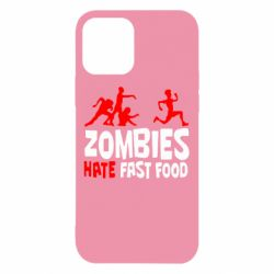 Чехол для iPhone 12/12 Pro Zombies hate fast food