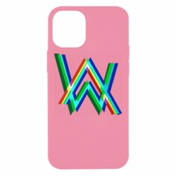 Чехол для iPhone 12 mini Alan Walker multicolored logo