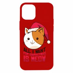Чехол для iPhone 12 mini All i want for christmas is meow