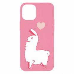Чохол для iPhone 12 mini Alpaca with a heart