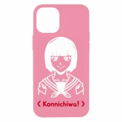 Чехол для iPhone 12 mini Anime girl konichiwa