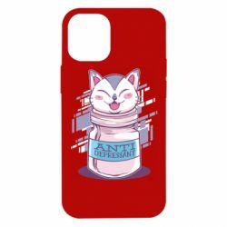 Чехол для iPhone 12 mini AntiDepressant Cat