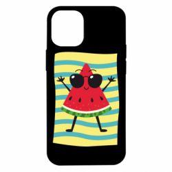 Чехол для iPhone 12 mini Арбуз на пляже