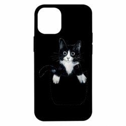Чехол для iPhone 12 mini Art cat in your pocket