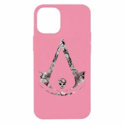 Чехол для iPhone 12 mini Assassins Creed and skull