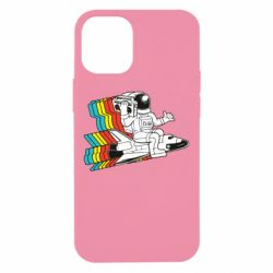 Чохол для iPhone 12 mini Astronaut on a rocket with a tape recorder