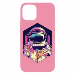 Чехол для iPhone 12 mini Astronaut with donut and pizza