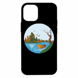 Чехол для iPhone 12 mini Autumn fishing