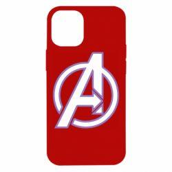 Чехол для iPhone 12 mini Avengers and simple logo