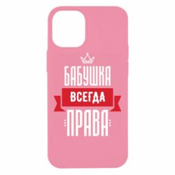 Чехол для iPhone 12 mini Бабушка всегда права