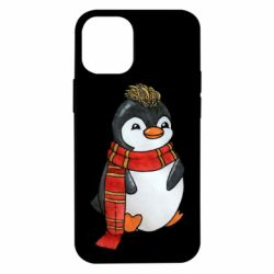 Чохол для iPhone 12 mini Baby penguin with a scarf